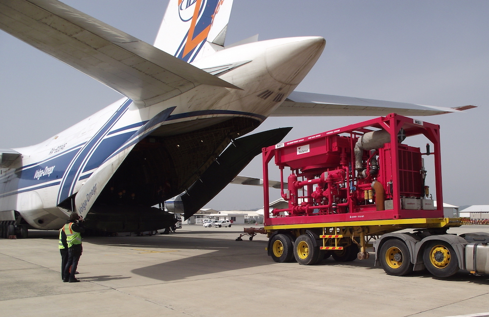 Cargo aircraft handling for loading project cargo urgently required in Russia. AN-124 full charter flights containing oil well equipment.